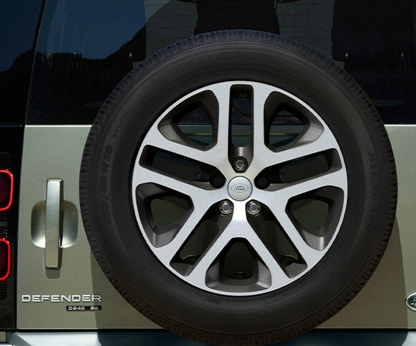"Land Rover New Defender - ALLOY WHEEL - 20"" STYLE 5095, 5 SPLIT-SPOKE, DARK GREY DIAMOND TURNED FINISH"