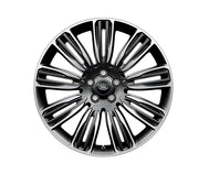 "Land Rover Range Rover Sport - ALLOY WHEEL - 22"" STYLE 9012, 9 SPLIT-SPOKE, MID-SILVER DIAMOND TURNED FINISH"