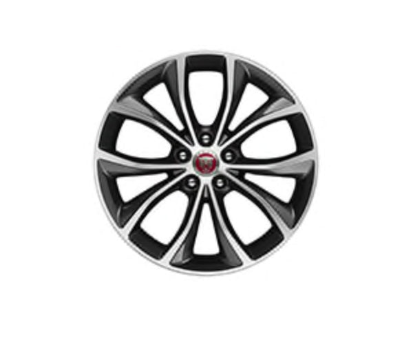 "Jaguar XF Sportbrake Alloy Wheel - 18"" Style 5033, 5 split-spoke, Contrast Diamond Turned finish"