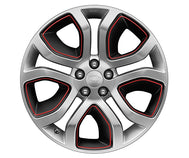 "Land Rover Discovery Sport - ALLOY WHEEL - 19"" STYLE 5023, 5 SPLIT-SPOKE, CERAMIC POLISHED AND RED PINSTRIPE"