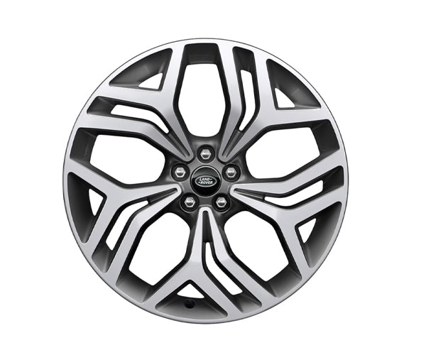"Land Rover Range Rover Velar - ALLOY WHEEL - 21"" STYLE 5047, 5 SPLIT-SPOKE, DIAMOND TURNED FINISH"