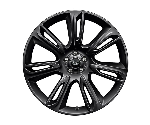"Land Rover Range Rover Velar - ALLOY WHEEL - 22"" STYLE 7015, 7 SPLIT-SPOKE, GLOSS BLACK"