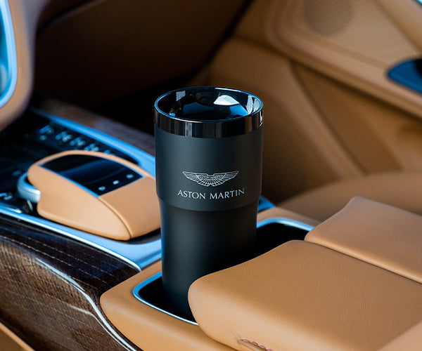 Aston Martin Heated Travel Cup in Black with Gloss Rim (Contact Directly)