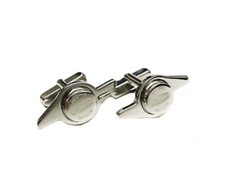 JAGUAR WHEEL SPINNER CUFFLINKS SILVER