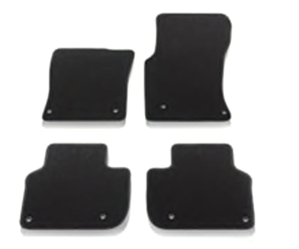 Jaguar XF Carpet Mat Set - Ebony, RHD