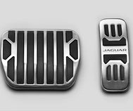 Jaguar F-Type Pedal Covers - Bright Metal, Automatic