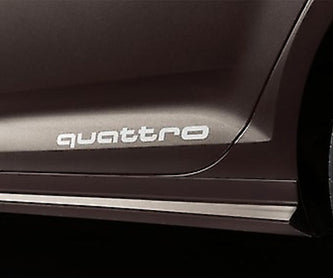 Audi A1 A3 A4 A5 A6 SIDE QUATTRO FILM DECAL SILVER