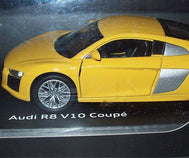 Audi R8 Genuine Pull-Back Car - Vegas Yellow