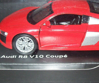 Audi R8  Genuine Pull-Back Car - Red