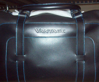 Aston Martin Vantage 4-Piece Luggage Set - Black/Spectral Blue Leather
