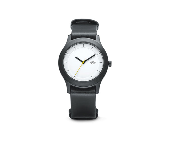 MINI Watch Black with White Dial