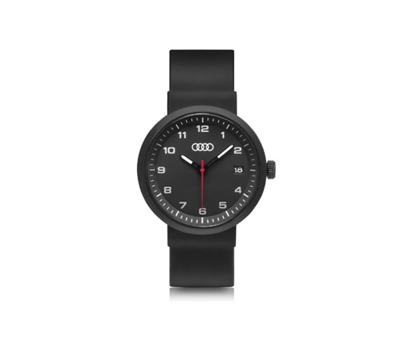 Audi Black Silicone Strap Watch