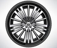 "Volvo 22"" 20-Spoke Black Diamond Cut Complete Summer Wheels"