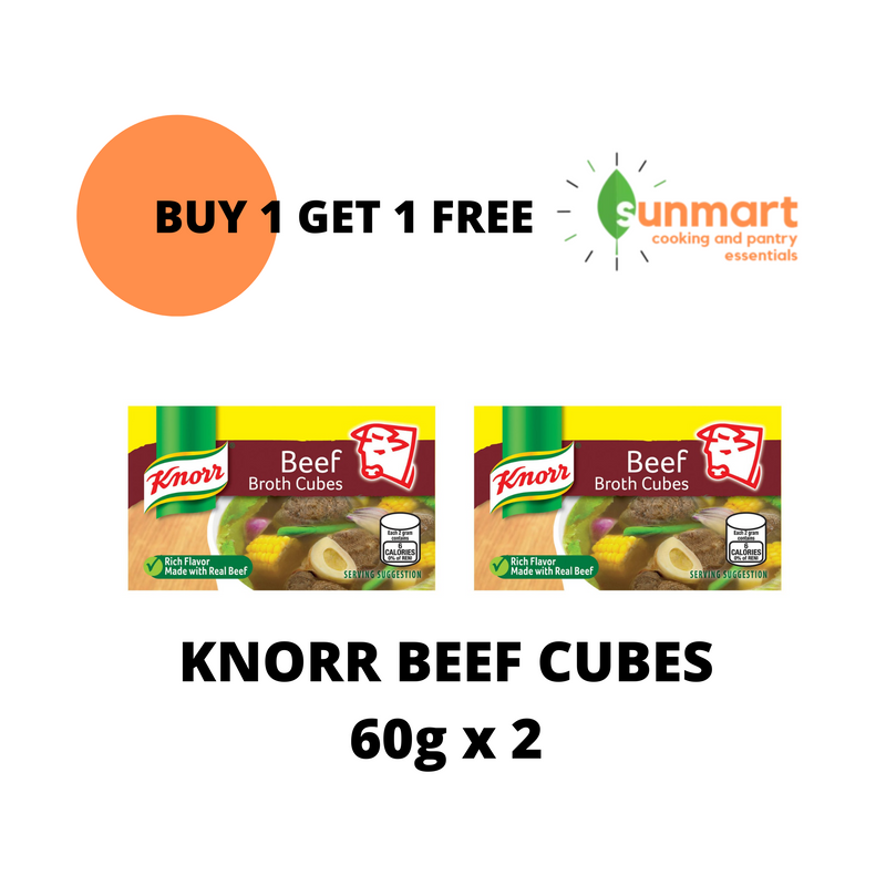 Knorr Beef Cubes 60g BUY 1 TAKE 1
