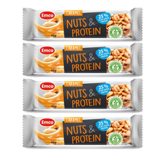 EMCO High Protein Nuts and Caramel Bar 40g x 4