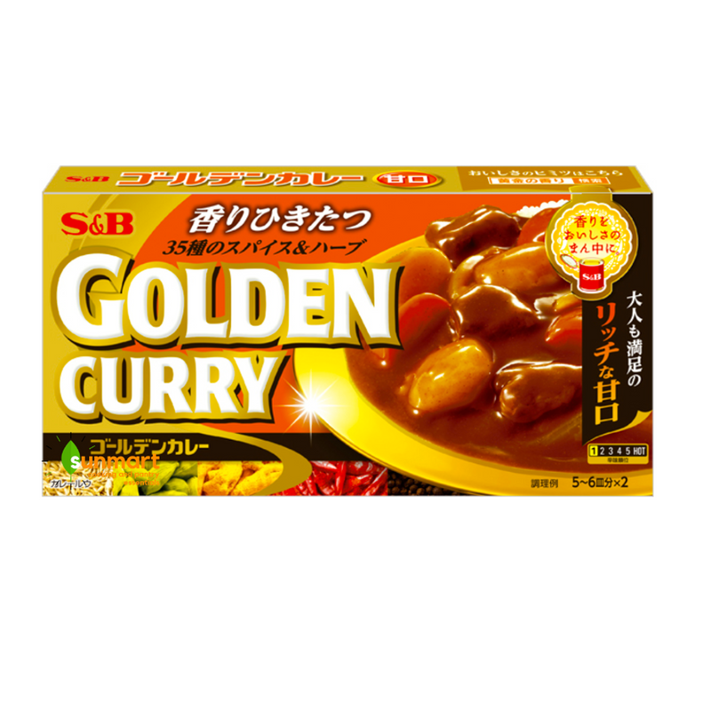 S&B Curry Bar Golden #1 Mild 198g
