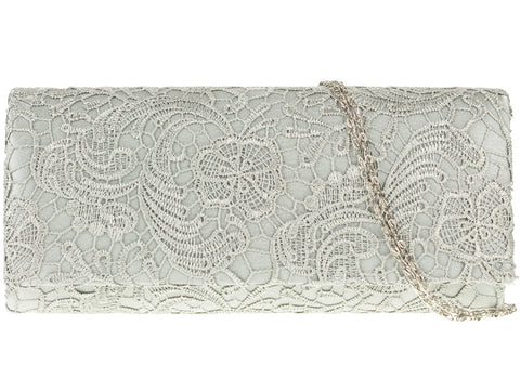 Lace & Satin Wedding Clutch
