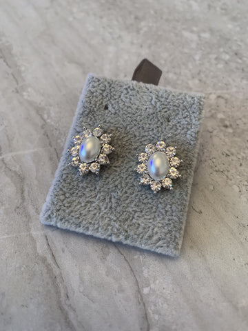 Park Lane Crystal Flower Clip On Earrings