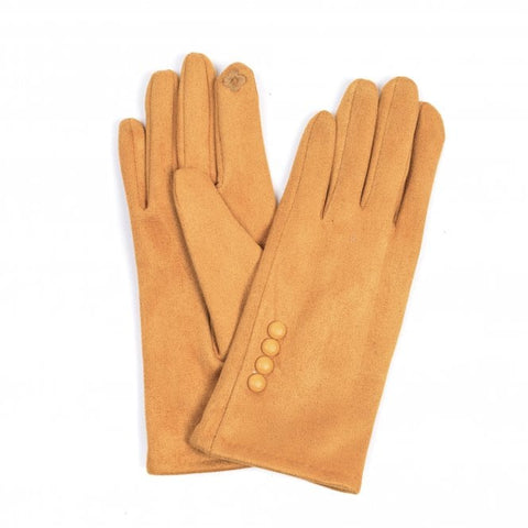 Ladies Button Detail Gloves