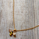 Bumble Bee Gold Plated Necklace Gold