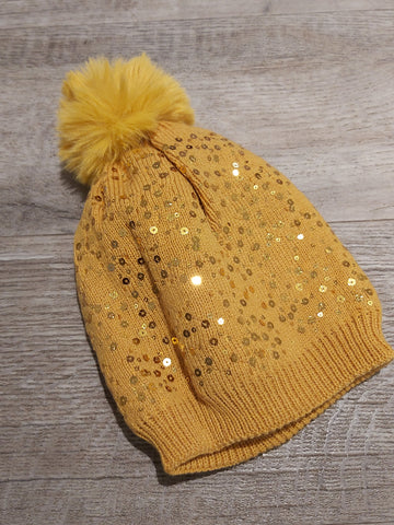 Sequin bobble hat