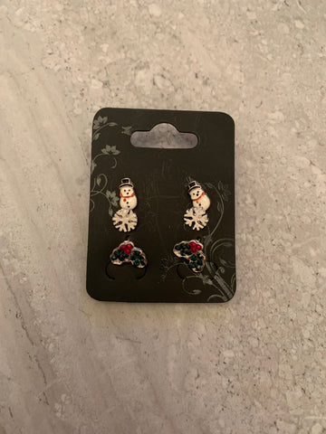 Set of 3 Christmas Studs