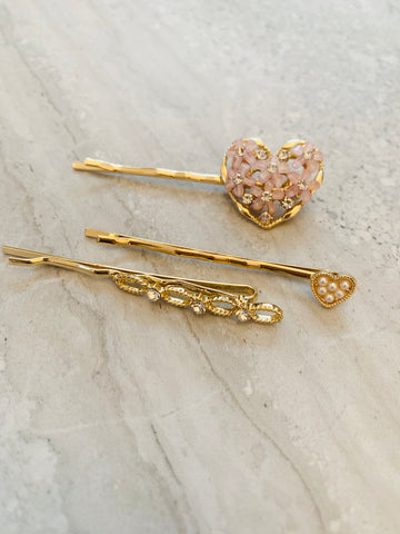 Vintage inspired hair clips