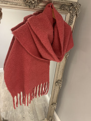 Label Plain Thick Scarf