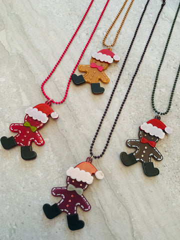 Gingerbread Santa Necklace