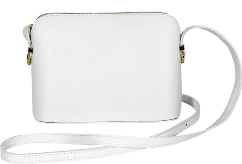 Pure White Leather Cross Body - Pick from a range of colours