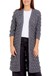Teardrop Scallop Edge Knitted Cardigan