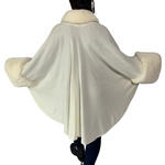 Wide Trim Faux Fur Edge Cape