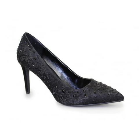Lunar Algiers Lace Court Shoe with Sparkle .