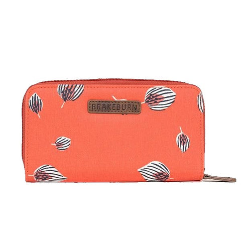 Brakeburn Feather Fold Over Purse Pink