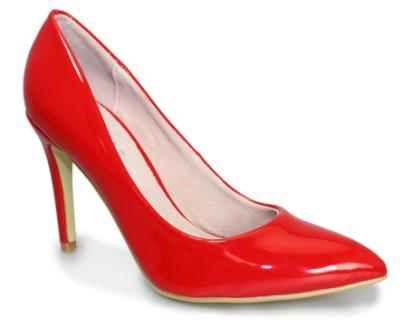 Lunar Angie Red Patent Court Shoe FLC149 LAST PAIR