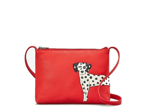 Yoshi Penny The Dalmation Cross Body Bag Red