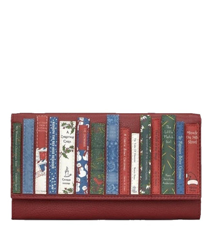 Yoshi Christmas Bookworm Purse Dark Red