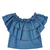 Mayoral girls denim loose top-Top-Bambini Emporio