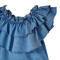 Mayoral Girls Denim Dress Top-Top-Bambini Emporio