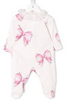 Monnalisa playsuit w/dots and bows-Layette-Bambini Emporio