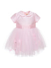 Monnalisa baby girls Mikado and tulle dress-Dress-Bambini Emporio