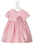 Monnalisa Baby Girls Taffeta And Rhinestone Dress-Dress-Bambini Emporio