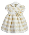 Ciccino baby girls cremona oro ceremony dress-Dress-Bambini Emporio