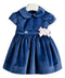 Ciccino baby girls Biella Blu ceremony dress-Dress-Bambini Emporio