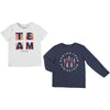Mayoral boys short sleeve t-shirt and long sleeve t-shirt set-T-shirt-set-Bambini Emporio
