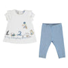 Mayoral Baby Girls Short Sleeve Shirt And Leggings-Leggings set-Bambini Emporio