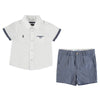 Mayoral baby boys short sleeve shirt and Bermuda shorts set-Shirt-set-Bambini Emporio