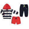 Mayoral baby boys striped tracksuit set (3 pieces)-Jacket-set-Bambini Emporio