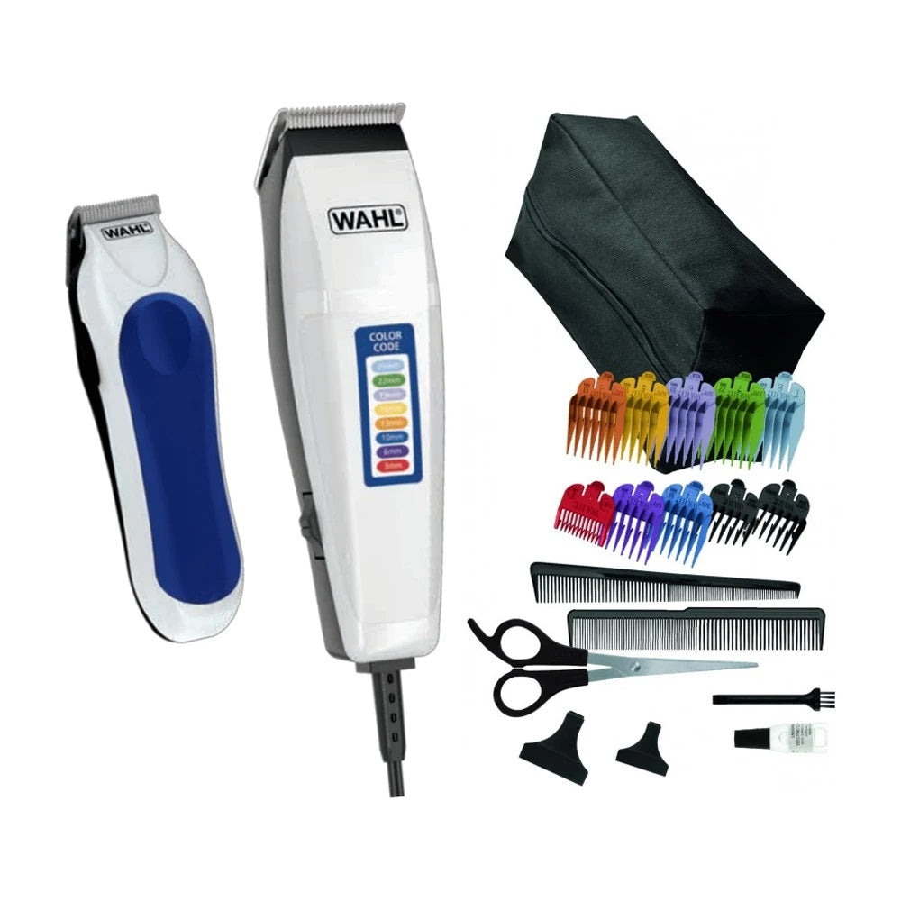 Maquina Peluquera Wahl Color Code Combo Haircutting Kit 20 Piezas