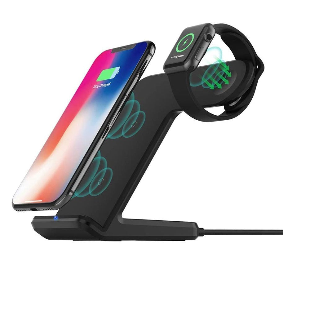 Base de Carga Magnetica 2 en 1 iPhone y Apple Watch